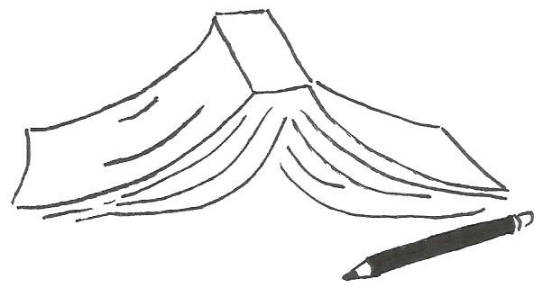 Llibre amb llapis