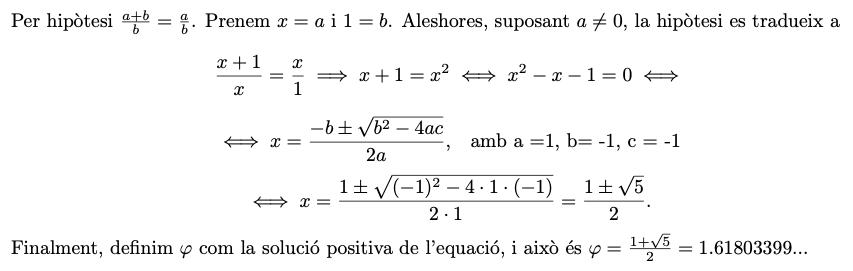 Càlcul de Phi