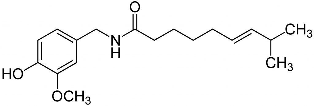 Molècula de capsaïcina
